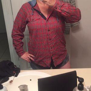 VINTAGE Casey & Max 90's Plaid Flannel Jacket Top